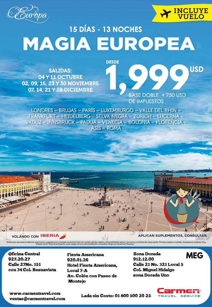 Magia Europea Carmen Travel