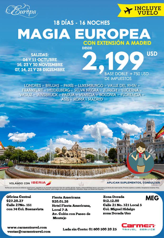 Magia Europea Madrid Carmen Travel